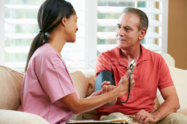 Nurse Visiting Senior Male Patient At Home Stock photo © monkey_business