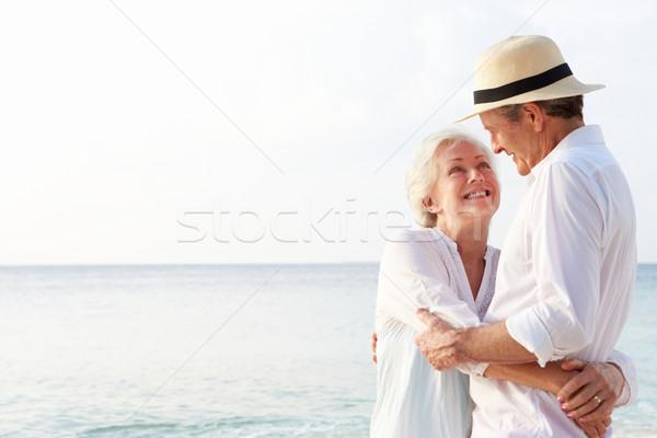 Afetuoso casal de idosos praia tropical férias praia verão Foto stock © monkey_business