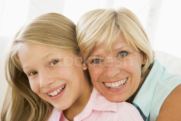 Zdjęcia stock: Babcia · wnuczka · uśmiechnięty · rodziny · dziewczyna · dziecko