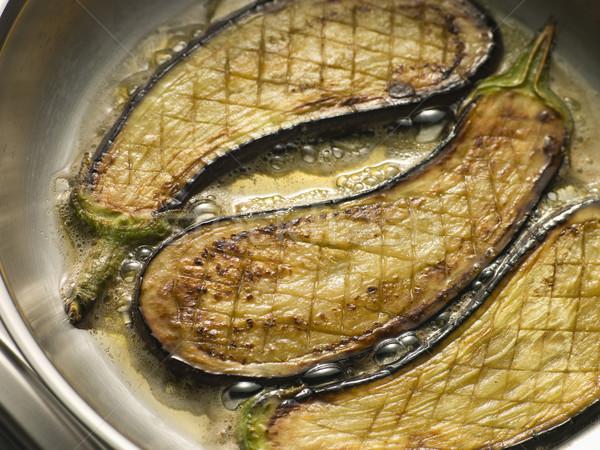Eggplant Frying in Corn Oil Stock photo © monkey_business