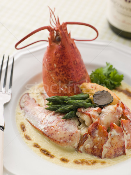 Lobster Thermidor with a Rouille Croute Stock photo © monkey_business