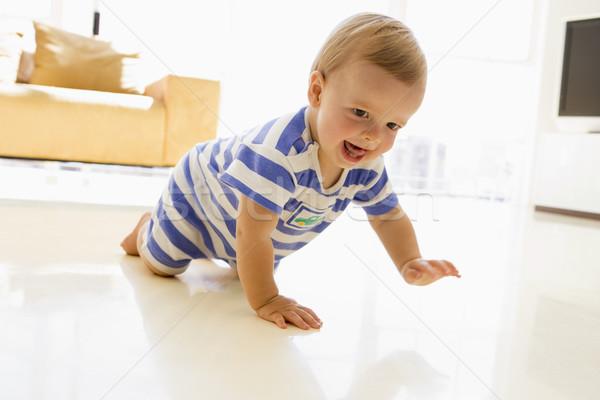 Baba kúszás nappali gyerekek gyermek tanul Stock fotó © monkey_business