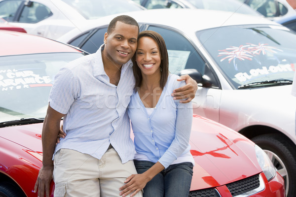 Couple looking at new cars Stock photo © monkey_business