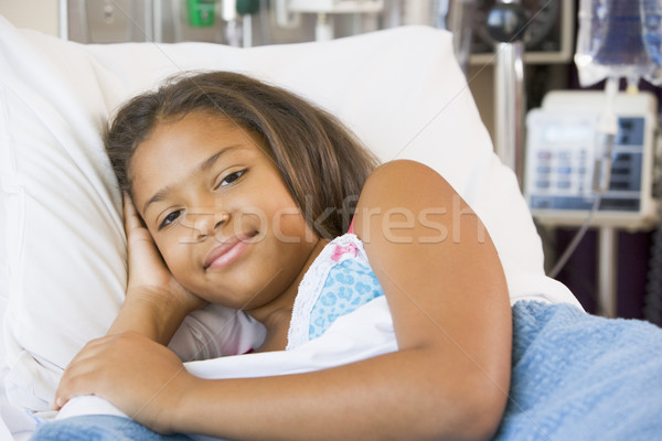 Young Girl Resting In Hospital Bed Stock photo © monkey_business