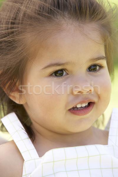 Gyerekek portrék kislány ártatlanság babák boldogság Stock fotó © monkey_business