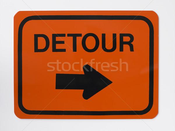 Omweg verkeersbord teken snelweg kleur concept Stockfoto © monkey_business