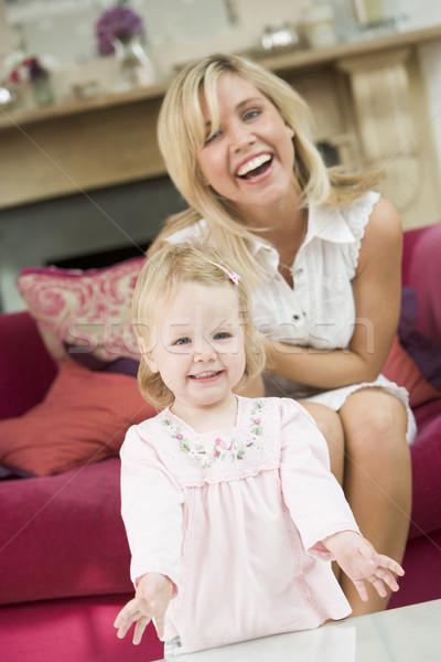 Anya nappali baba mosolyog boldog gyermek Stock fotó © monkey_business