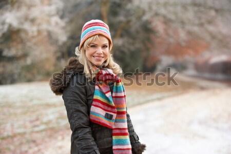 Genç kadın alpine kar sahne kadın genç Stok fotoğraf © monkey_business