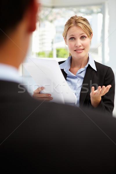Entrevista de emprego escritório trabalhar empresário trabalhando trabalho Foto stock © monkey_business