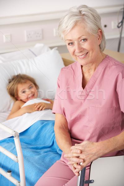 看護 子 患者 米国 事故 緊急 ストックフォト © monkey_business