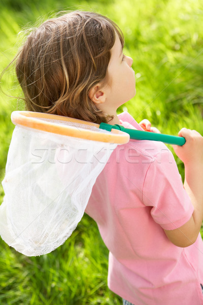 Veld insect net zomer glimlachend Stockfoto © monkey_business