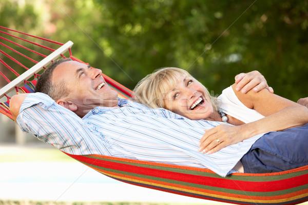 Pareja de ancianos relajante hamaca mujer hombre mujeres Foto stock © monkey_business