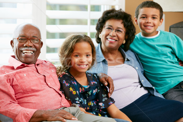 Portrait Of Grandparents With Grandchildren Stock photo © monkey_business