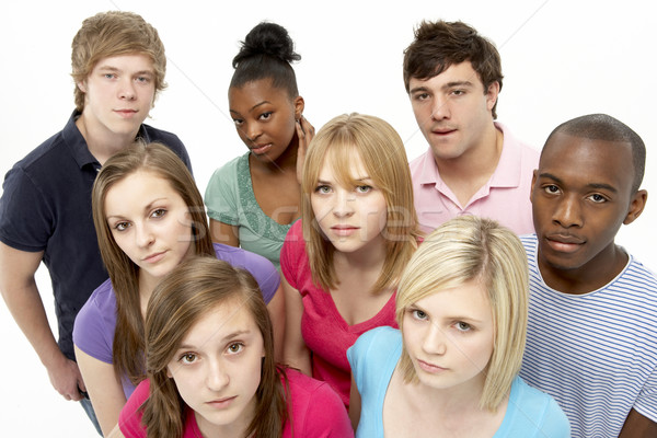 Grupo amigos estudio color adolescentes Foto stock © monkey_business