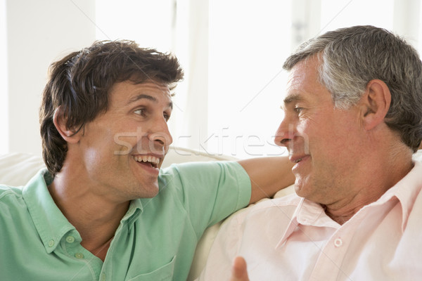 Father and grown up son talking Stock photo © monkey_business