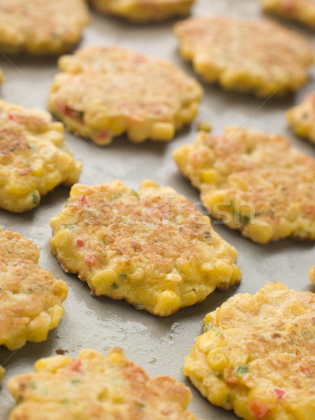 Tray of Sweet corn Fritters Stock photo © monkey_business