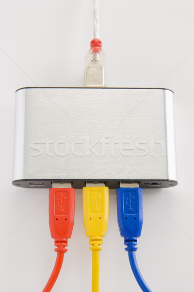 Computer cavi router business rete informazioni Foto d'archivio © monkey_business