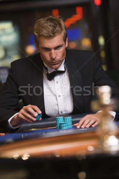男 ギャンブル ルーレット 表 カジノ 1泊 ストックフォト © monkey_business