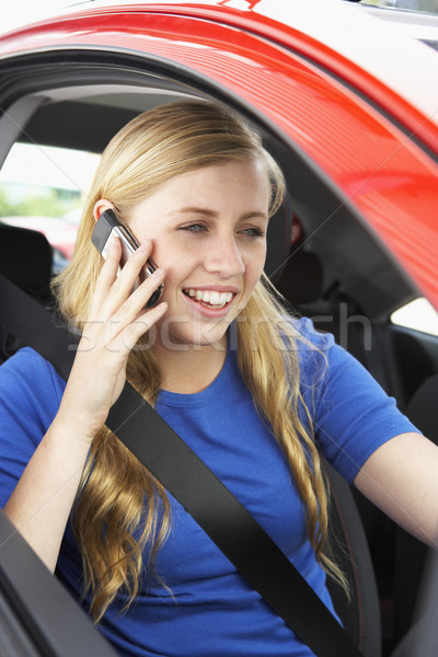 Teenage Girl Sitting In Car Talking On Cellphone Stock photo © monkey_business