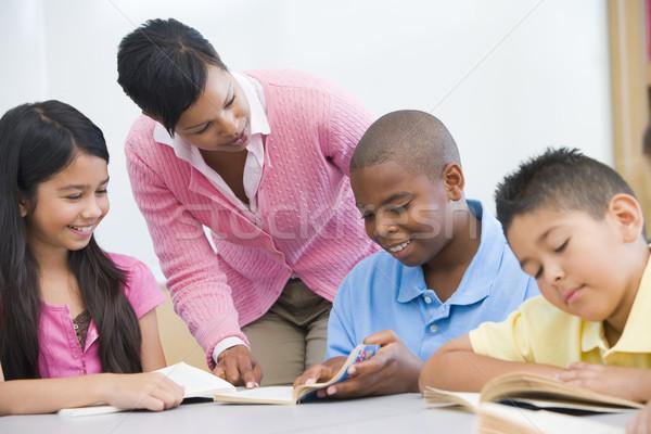 Elementary school classroom Stock photo © monkey_business