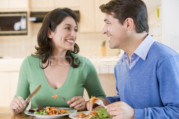 Couple Enjoying meal,mealtime Together Stock photo © monkey_business