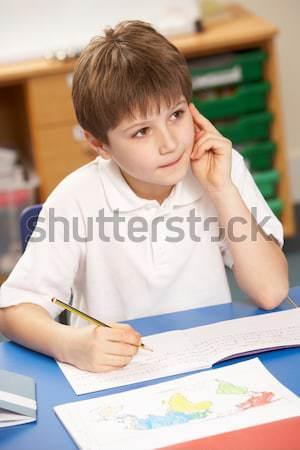 Estudante sessão primário classe criança estudante Foto stock © monkey_business