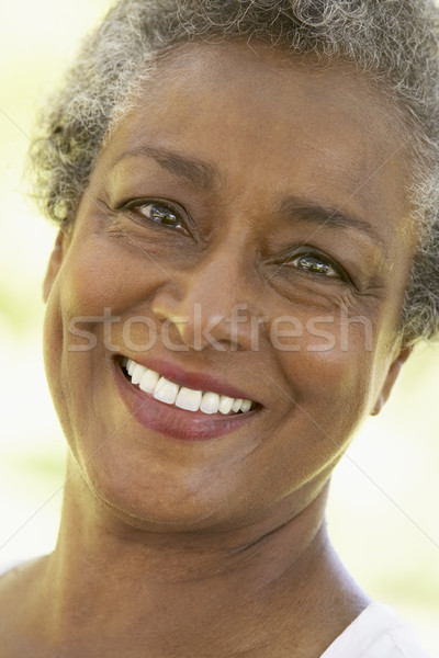Femme visage heureux portrait personne supérieurs Photo stock © monkey_business