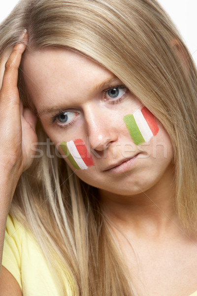 Disappointed Young Female Sports Fan With Italian Flag Painted O Stock photo © monkey_business