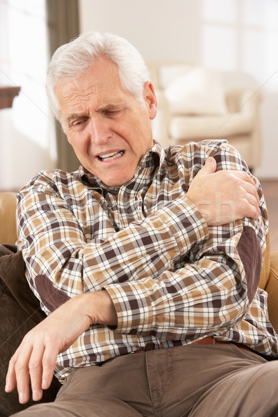 Senior Man Suffering Cardiac Arrest At Home Stock photo © monkey_business
