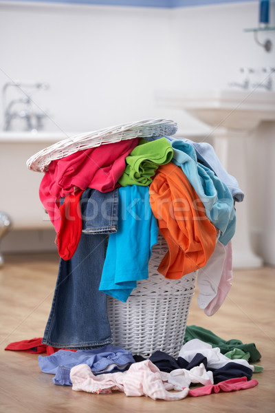 Pile of dirty washing in bathroom Stock photo © monkey_business