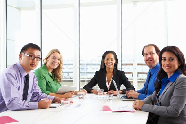Geschäftsfrau Sitzung Sitzungssaal Business Frau Frauen Stock foto © monkey_business