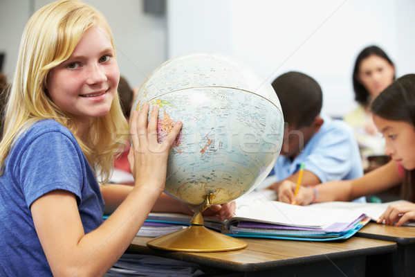 Pupils Studying Geography In Classroom Stock photo © monkey_business