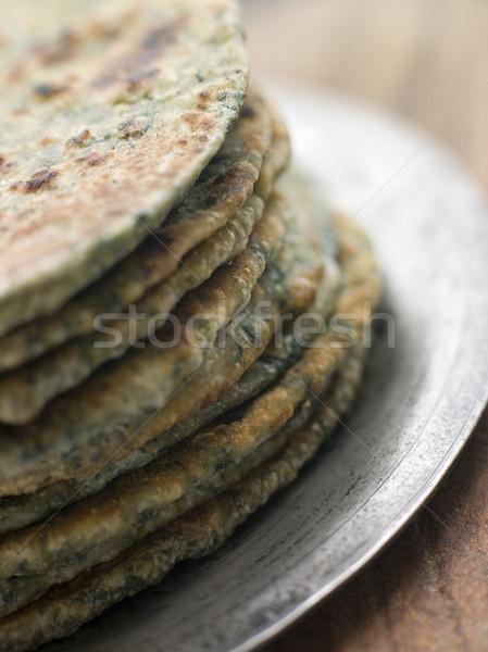 Stack of Sag Roti Stock photo © monkey_business