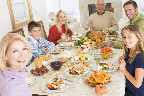 Family All Together At Christmas Dinner Stock photo © monkey_business