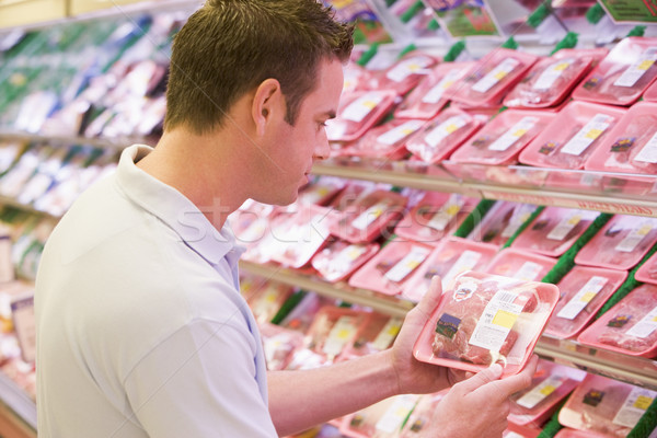 Man buying fresh meat Stock photo © monkey_business