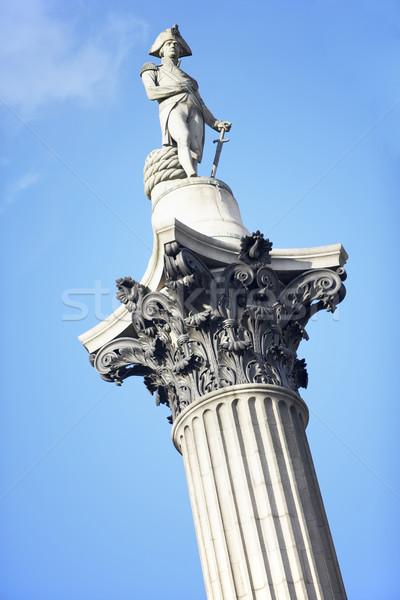 Nelson's Column In Trafalgar Square, London, England Stock photo © monkey_business