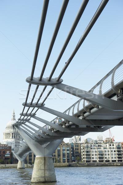 Passarela Londres inglaterra ponte rio cor Foto stock © monkey_business