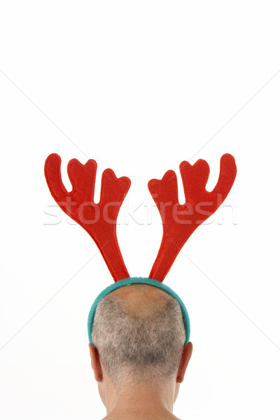 Man Wearing Reindeer Antlers Stock photo © monkey_business