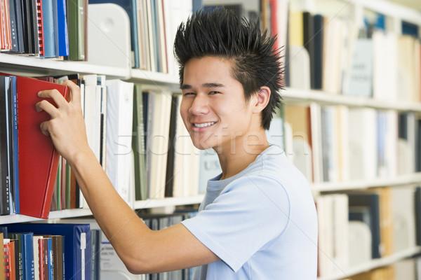 Stockfoto: Boek · bibliotheek · plank · mannelijke