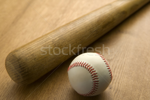 Batte de baseball balle vintage jeu bat Photo stock © monkey_business