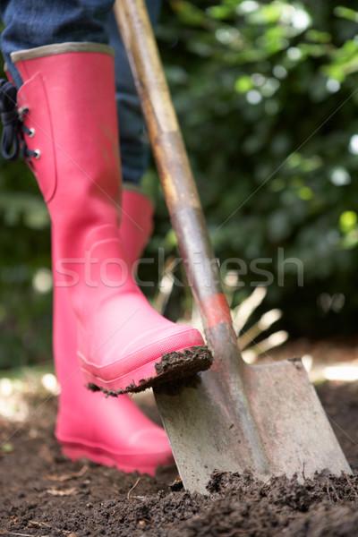 Nő kert dolgozik személy életstílus föld Stock fotó © monkey_business