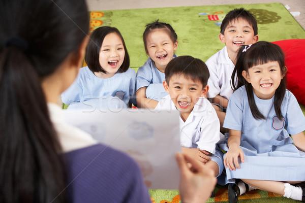 Maestro pintura estudiantes chino escuela Foto stock © monkey_business