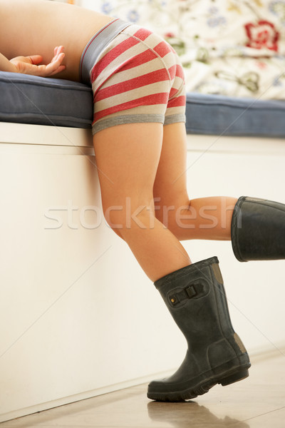 Boy Playing At Dressing Up Stock photo © monkey_business