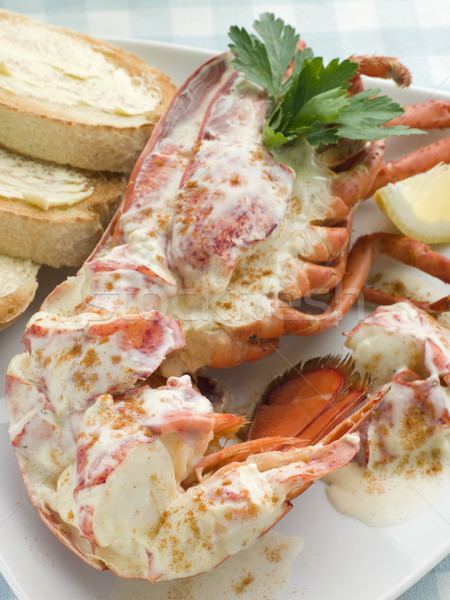 Stock photo: Lobster Newburg with Toast and Lemon
