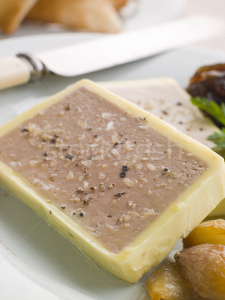 Chicken Liver and Foie Gras Parfait with Caramelised Shallots an Stock photo © monkey_business
