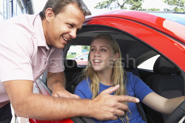 Teenage Girl Learning How To Drive Stock photo © monkey_business