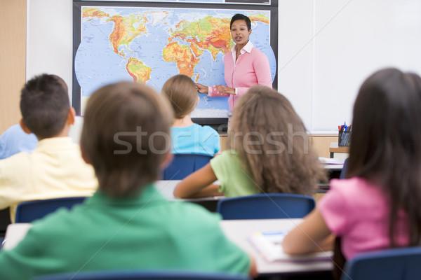 учитель география класс женщину Сток-фото © monkey_business