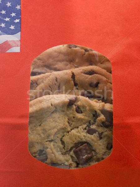Bag Of Milk Chocolate Chip Cookies Stock photo © monkey_business