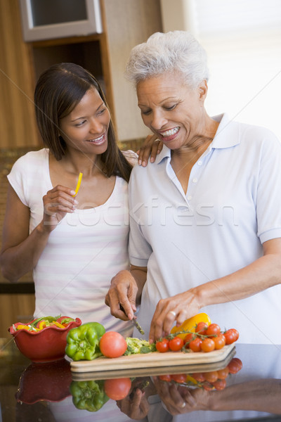 Mother And Daughter Preparing A meal,mealtime Together Stock photo © monkey_business
