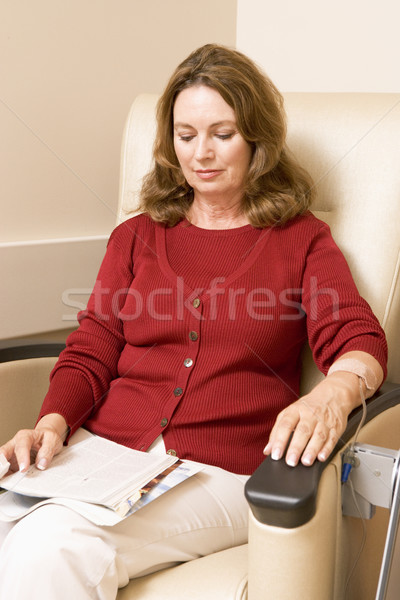 Patient Reading Magazine While Being MonitPatient Reading Magazi Stock photo © monkey_business